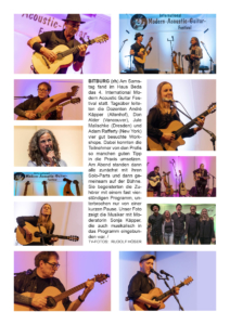 4. Internationales Modern Acoustic Guitar Festival